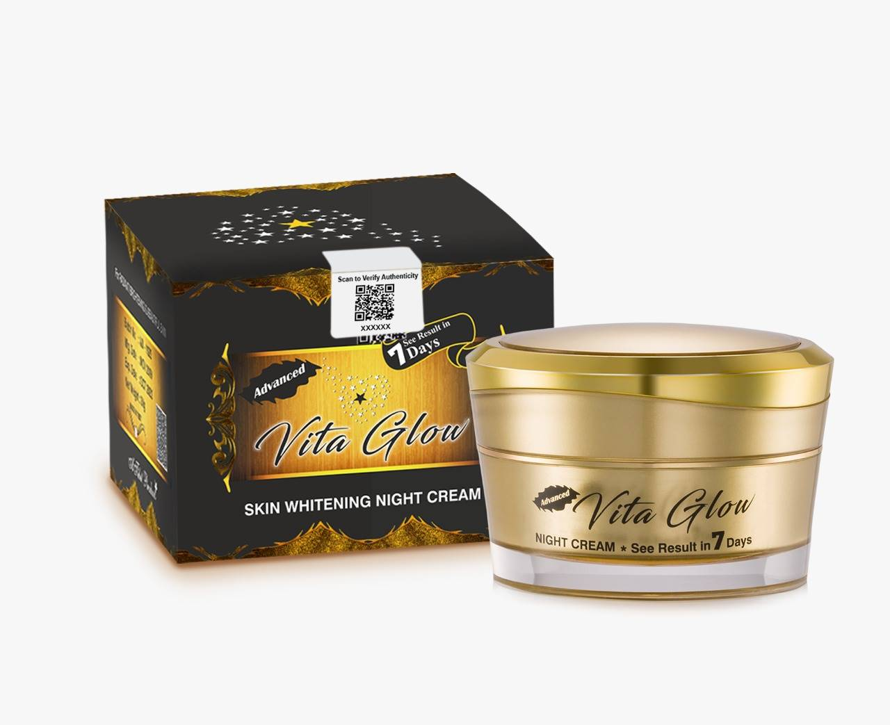 Advanced Vita Glow Glutathione Skin Whitening Night Cream | Healthcare Beauty
