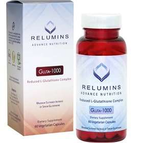 Relumins 1000mg Reduced Glutathione 60 Skin whitening pills | Healthcare Beauty