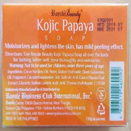 Royale Beauty Kojic Papaya Soap | Healthcare Beauty