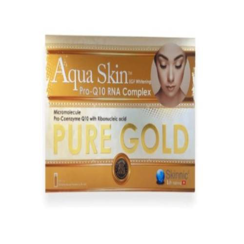 Aqua Skin Pro Q10 RNA Complex Pure Gold Glutathione Skin Whitening 24 Sessions Injection | Healthcare Beauty