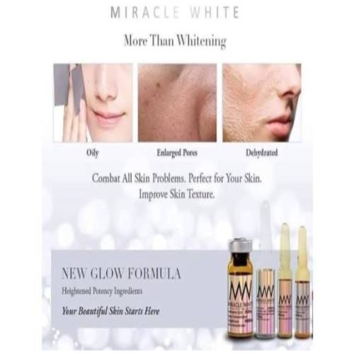 Miracle White 9000 mg skin whitening injection 6 Sessions | Healthcare Beauty