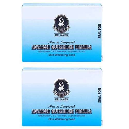 Dr James Advanced Glutathione Skin Whitening Soap Pack of 2 | Healthcare Beauty