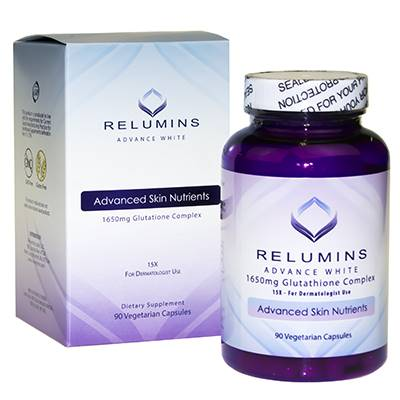Relumins 1650mg Glutathione Complex 15x skin whitening pills | Healthcare Beauty