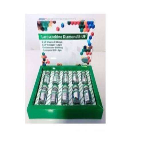 Laroscorbine Diamond E UF 20000 mg Vitamin C and Collagen Skin whitening Injection | Healthcare Beauty