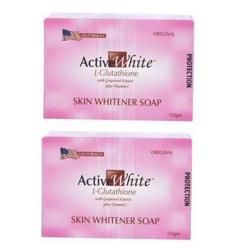 Active White L Glutathione Skin Whitener Soap Pack of 2 | Healthcare Beauty
