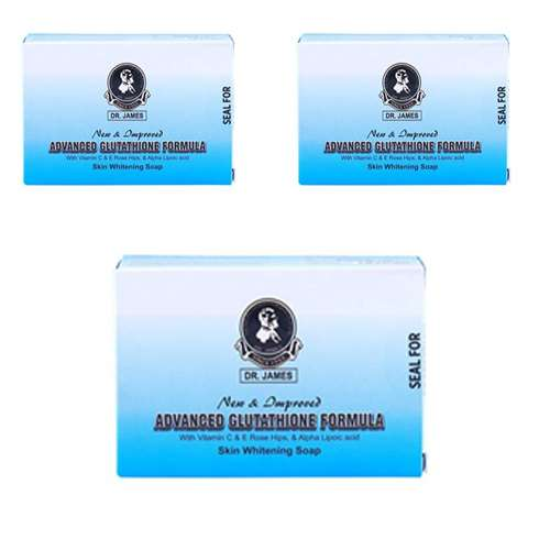 Dr James Advanced Glutathione Skin Whitening Soap Pack of 3 | Healthcare Beauty
