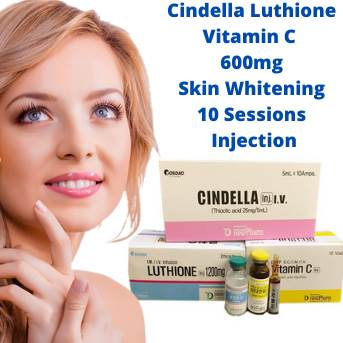 Cindella Luthione Vitamin C 600mg Skin Whitening 10 Sessions Full Set Injection