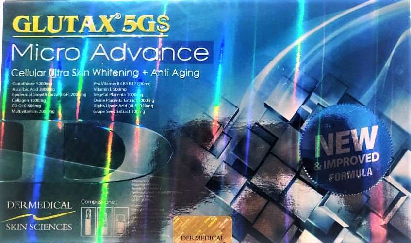Glutax 5GS Micro Advance Ultra Skin Whitening Injection 6 vials