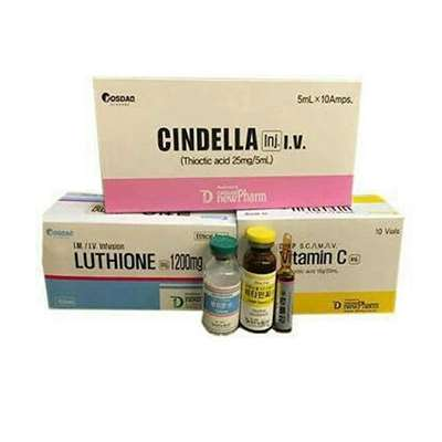 Cindella 1200mg 10 Sessions Gluathione Injection For Skin Whitening