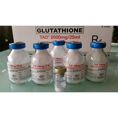 Tad Glutathione whitening 5 vials 2500mg skin whitening injection | Healthcare Beauty