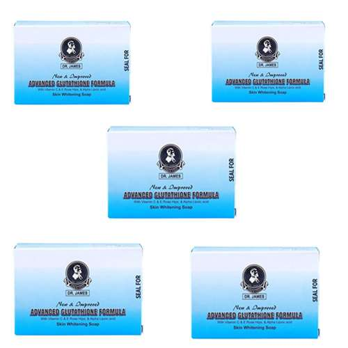 Dr James Advanced Glutathione Skin Whitening Soap Pack of 5 | Healthcare Beauty