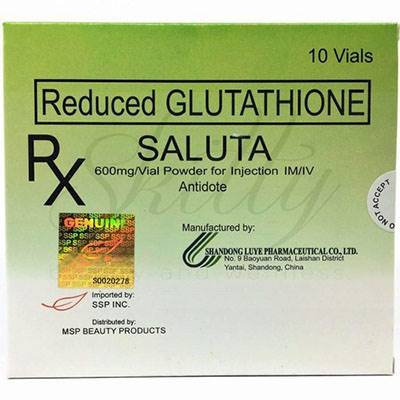 Glutathione Saluta 600mg skin whitening injection | Healthcare Beauty