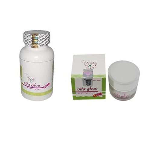 Vita Glow Glutathione Skin Whitening Night Cream and Capsules | Healthcare Beauty