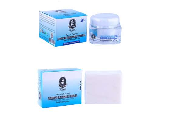 Dr James Glutathione Skin Whitening Night Cream and Soap